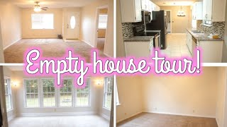 EMPTY HOUSE TOUR! | FIRST TIME HOME OWNERS | Erika Ann