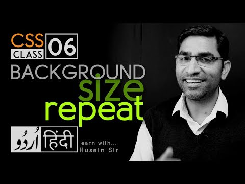 Background-size, background-repeat - CSS3 tutorial in hindi - urdu - Class - 06 thumbnail