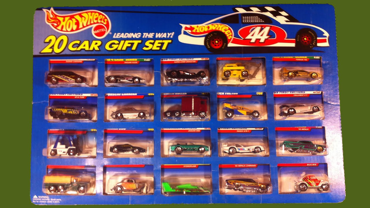 hot wheels 20 car gift set a collection of 20 assorted. Black Bedroom Furniture Sets. Home Design Ideas
