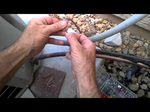 how-to-repair-an-air-conditioner,-after-the-dog-chews-the-thermostat-wires-diy