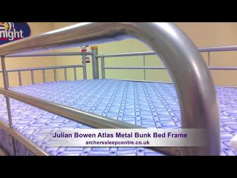Julian Bowen Atlas Metal Bunk Bed Frame