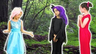 PRINCESS SUMMER HOLIDAY SPECIAL ☀️ PART 3 ☀️ Lost In The Wood - Princesses In Real Life | Kiddyzuzaa