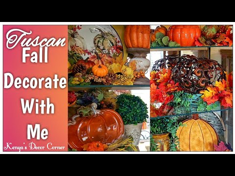 Fall Decorate With Me | Hutch/Armoire Fall Decor | Vlogust Day 27