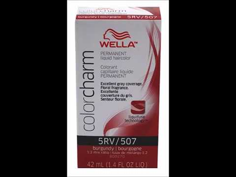 Wella Color Charm Liquid #0507 Burgundy Haircolor 3 Pack with Free ...