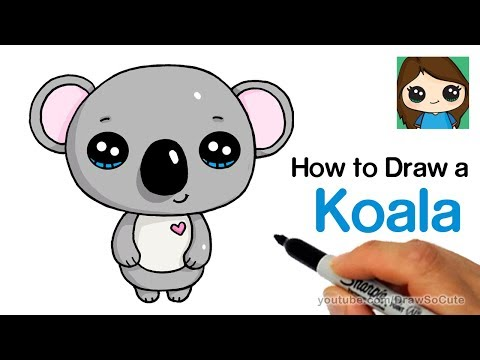 How To Draw A Koala Super Easy And Cute Youtube