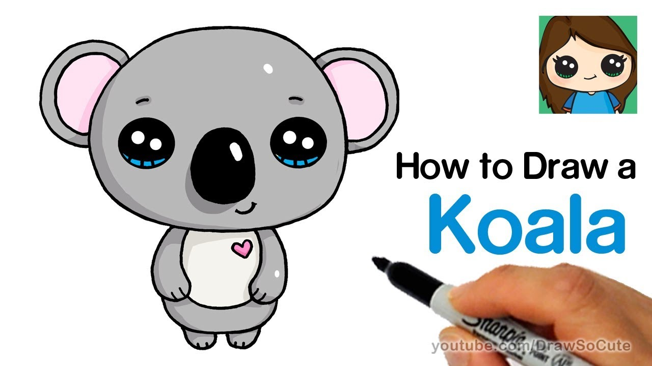How to Draw a Koala Super Easy and Cute - YouTube - photo#7