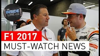 F1 2017 NEWS - WEEKLY FORMULA 1 NEWS (29 AUGUST 2017) [THE INSIDE LINE TV SHOW]