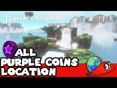How To Get All 50 Purple Coins In Cascade Kindgom | Super Mario Odyssey (Purple Coins Location)