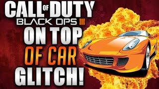 Black Ops 3 Zombie Glitches - Shadows Of Evil On Top Of Car By Spawn Super Jump Glitch!