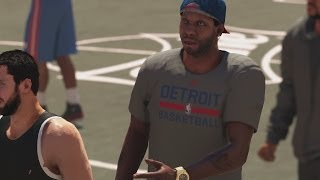 NBA 2K14 PS4 My Career - 1st Park Session! Patch Fixed the Mode!