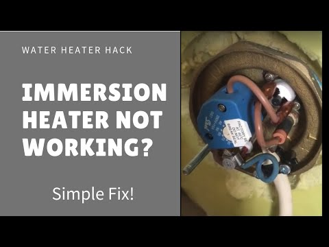 Immersion heater stopped working? Simple fix