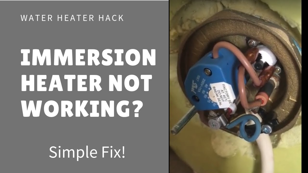 Immersion heater stopped working  Simple fix  YouTube