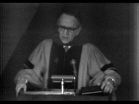 May 1971 - U.S. Supreme Court Justice Harry Blackmun Speaks at DePauw University