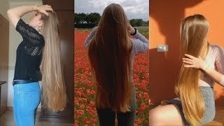 6 Minutes of Marzia - Gorgeous Natural Blonde Hair (Bundrop, Combing, Hairplay)