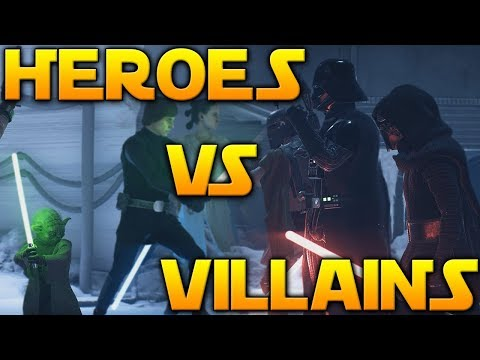 EPIC HEROES VS VILLAINS GAMEPLAY - Star Wars Battlefront 2 (Naboo Generator Room & More)