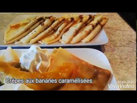 recette-simple-crêpe-aux-bananes-caramélisées