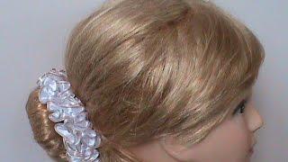 DIY/МК/Как сделать резиночки на пучeк волос для девочек и девушек
