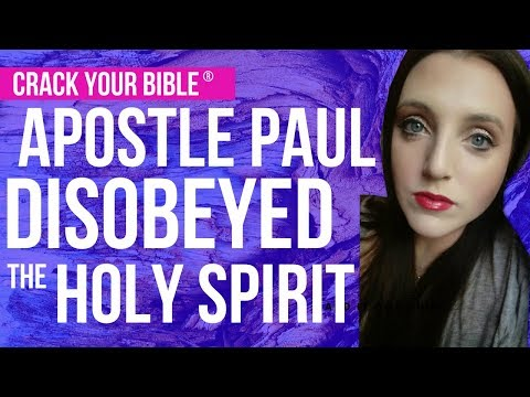 😩 Paul's DISOBEDIENCE to the HOLY SPIRIT? (Are you at risk?)