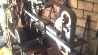 Belt Grinder Borkoknives (test In Vertical Position)