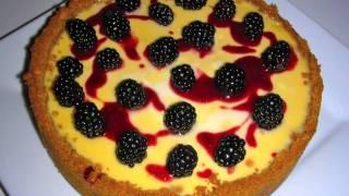 Custard Tart Recipe With Fresh Blackberries