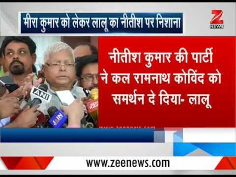 Presidential Election : Lalu Yadav attacks Nitish Kumar   लालू ने साधा नीतीश कुमार पर निशाना