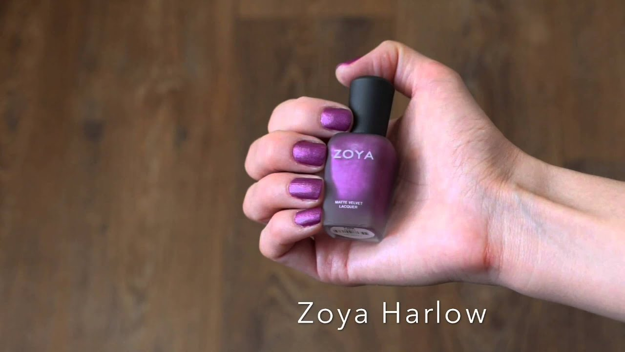 Zoya Nail Polish Matte Velvet Collection Swatch