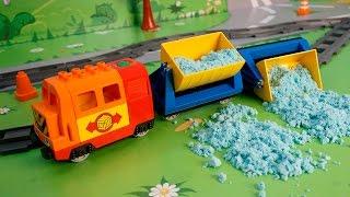 Мультики про машинки и паровозики. Безответственность на железной дороге. Развивающий мультфильм.