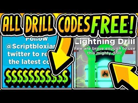 roblox drilling simulator codes 2019