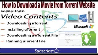 How to download a movie from torrent website | utorrent | Free Download