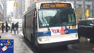 Johny's MTA Bus Ride To Queens and Manhattan With Bus Toy