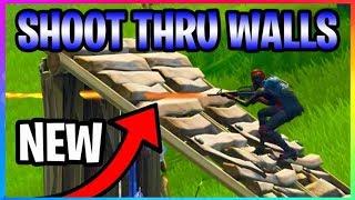 Fortnite: COMMENT À SHOOT THRU WALLS TO KILL ENEMIES! (Fortnite Bataille Royale Glitches)