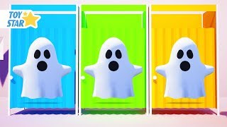 New 3D Cartoon For Kids ¦ Dolly And Friends ¦ Kids Play Hide and Seek w/ Color Cabins & Ghost #167