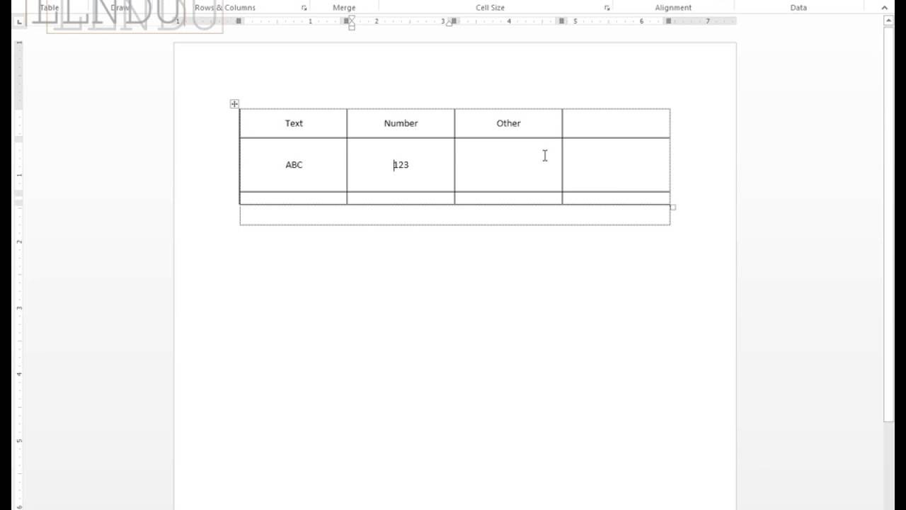 Middle align text vertically in table cell in word youtube middle align text vertically in table cell in word ccuart Image collections