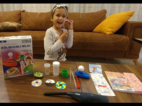 Deney ve bilim seti açtık eğitici ve keyifli set , eğlenceli çocuk videosu