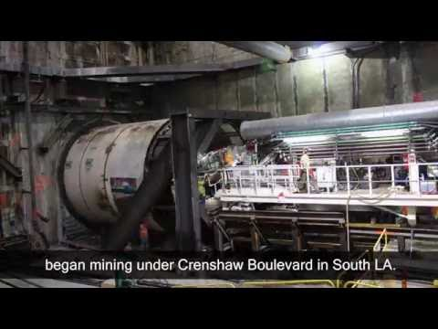 Crenshaw/LAX tunnel boring machine Harriet launch time-lapse