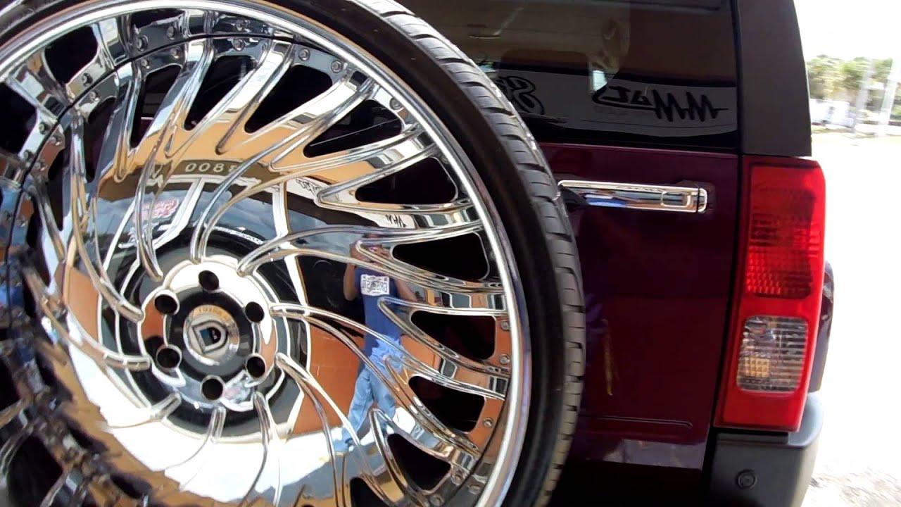 Box Chevy & hummer H3 on 30 s Asanti s Camaro & Donk on 28 s