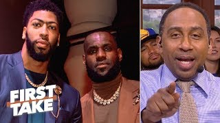 Download Stephen A. predicts a 2020 Lakers championship if Anthony Davis joins LeBron | First Take Mp3 and Videos