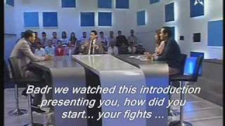 Badr Hari, Moroccan tv show part 1/6 english subtitle .