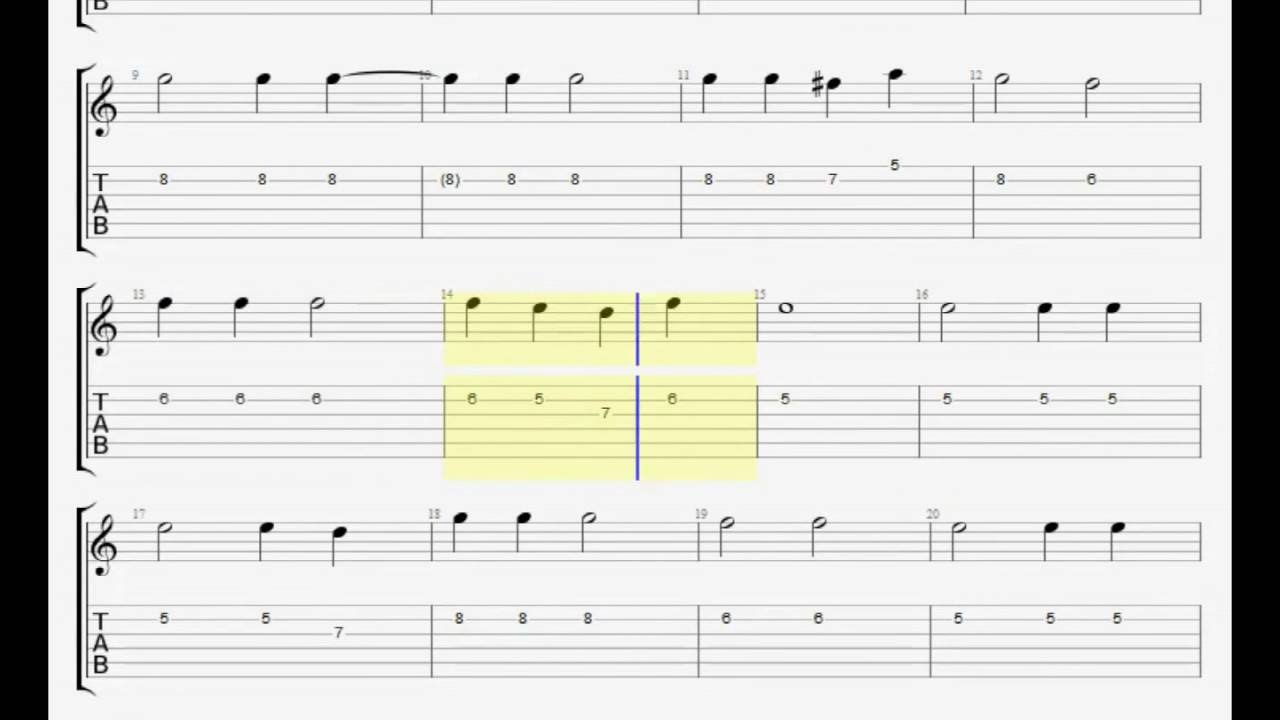Jan Gan Man Guitar Tab - Tab And Chord