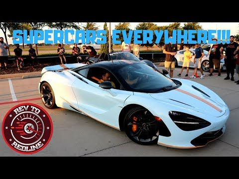 CARS & COFFEE DALLAS SEPTEMBER ( SUPERCARS EVERYWHERE!! )