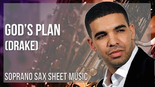 EASY Soprano Sax Sheet Music: How to play God's Plan by Drake
