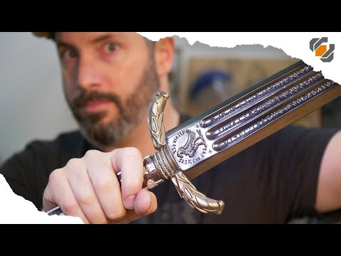 SHINY! Graphite vs. Metallic Finishes - Wonder Woman's Sword