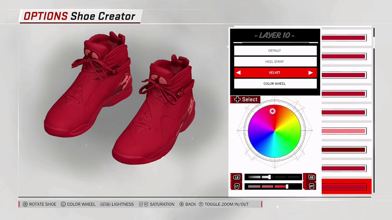 Nba 2k18 Shoe Creator Air Jordan 8 Valentines Day Youtube