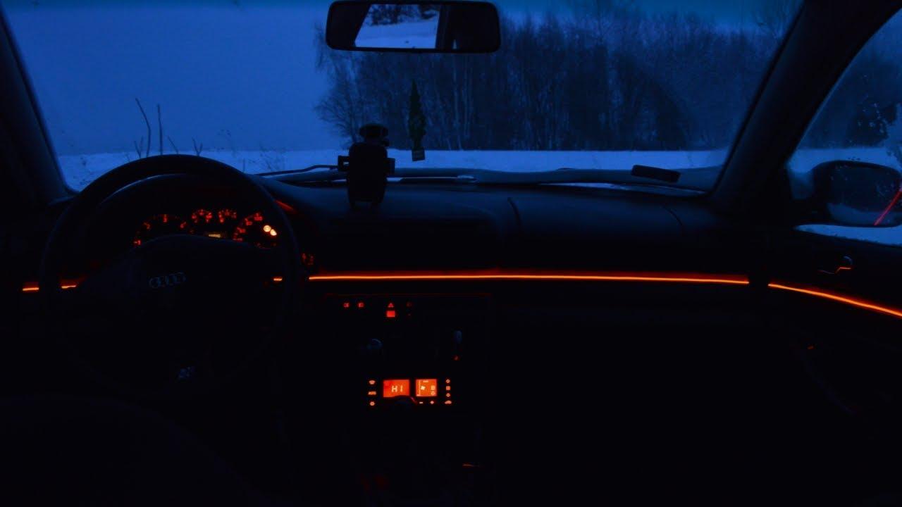 Tuning Wizualny Audi A4 B5 światłowód Taśma Led 4