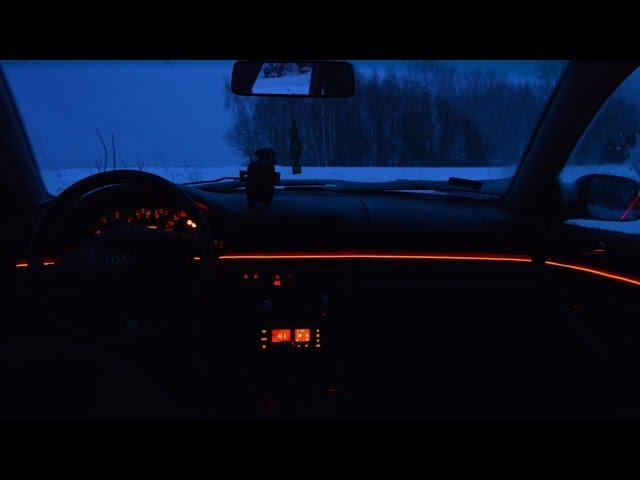 Tuning wizualny AUDI A4 B5 - Światłowód Taśma LED #4