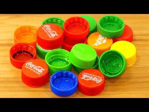 plastic bottle caps Reuse idea | best out of waste | plastic bottle caps craft idea