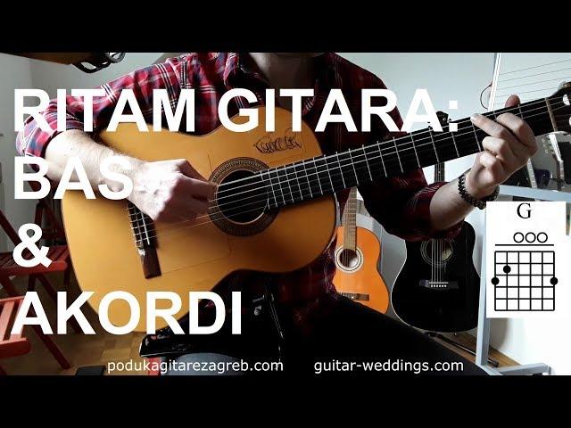 Ritmovi na GITARI - Basevi u akordima