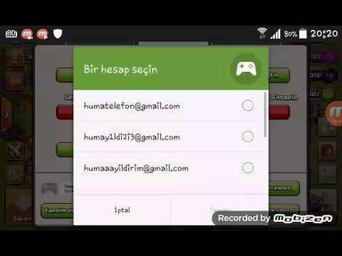 Clash of clans gmail ile hesap taşıma