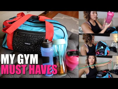 MY GYM MUST HAVES & 2017 GOALS *WHATS IN MY GYM BAG* | ITSJUSTKELLI