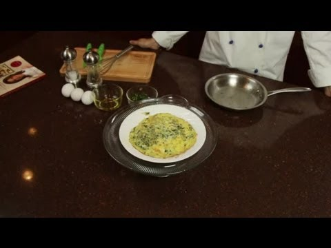 Frittata Recipe With Spinach & Gruyere Cheese : Fancy Eggs - YouTube